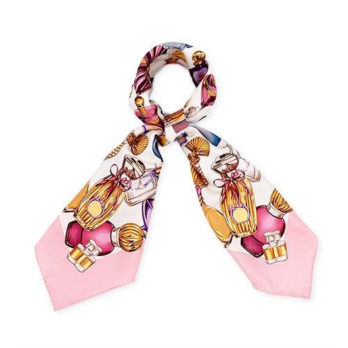 パフュームボトル (CM7-012) Marcaオリジナル 大判 シルクツイル スカーフ