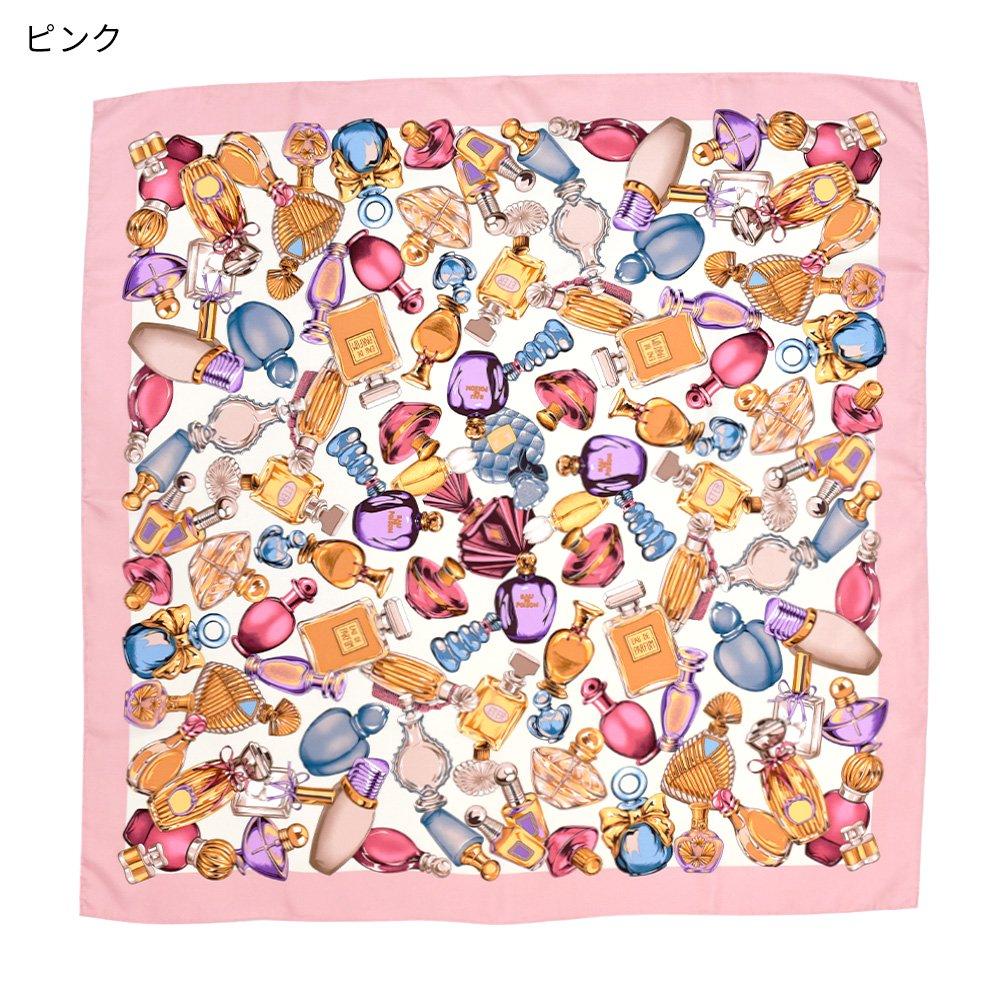 パフュームボトル (CM7-012) Marcaオリジナル 大判 シルクツイル スカーフの画像3