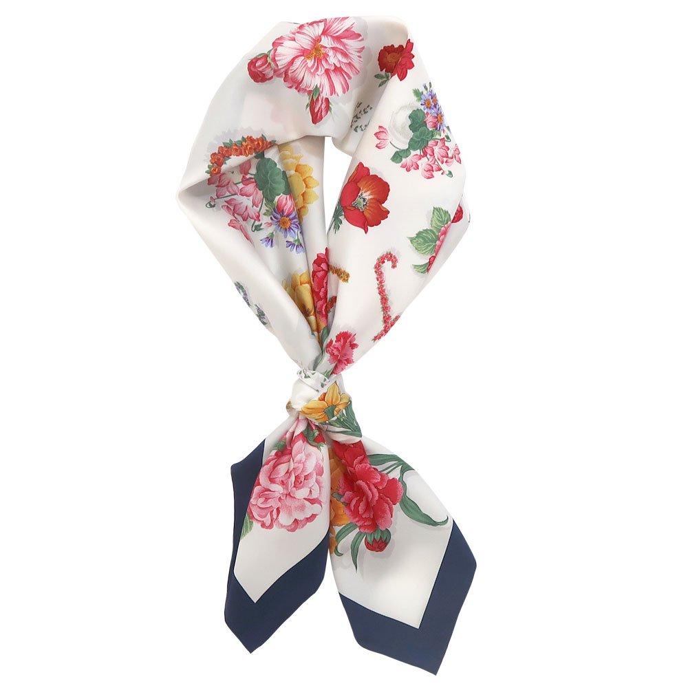 花ブローチ (CM6-036) Marcaオリジナル 大判 シルクツイル スカーフ