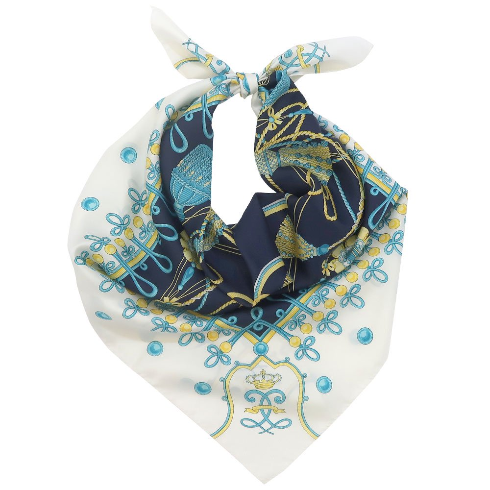 タッセル (CM6-610)Marcaオリジナル 大判 シルクツイル スカーフ