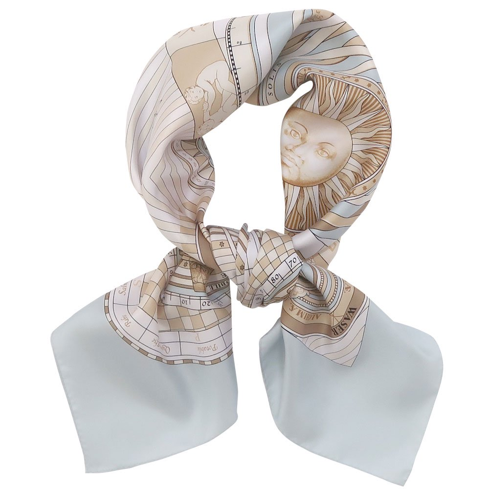 12宮 (CEQ-078) Marcaオリジナル 大判 シルクツイル スカーフの画像4
