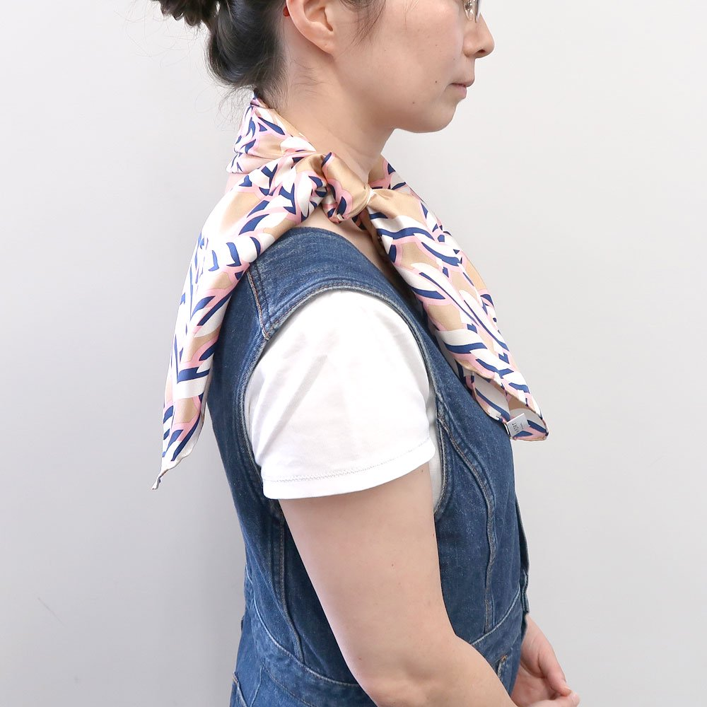 Rope Knot(CMR‐103) 【the PORT by marca】大判 シルクツイル スカーフ