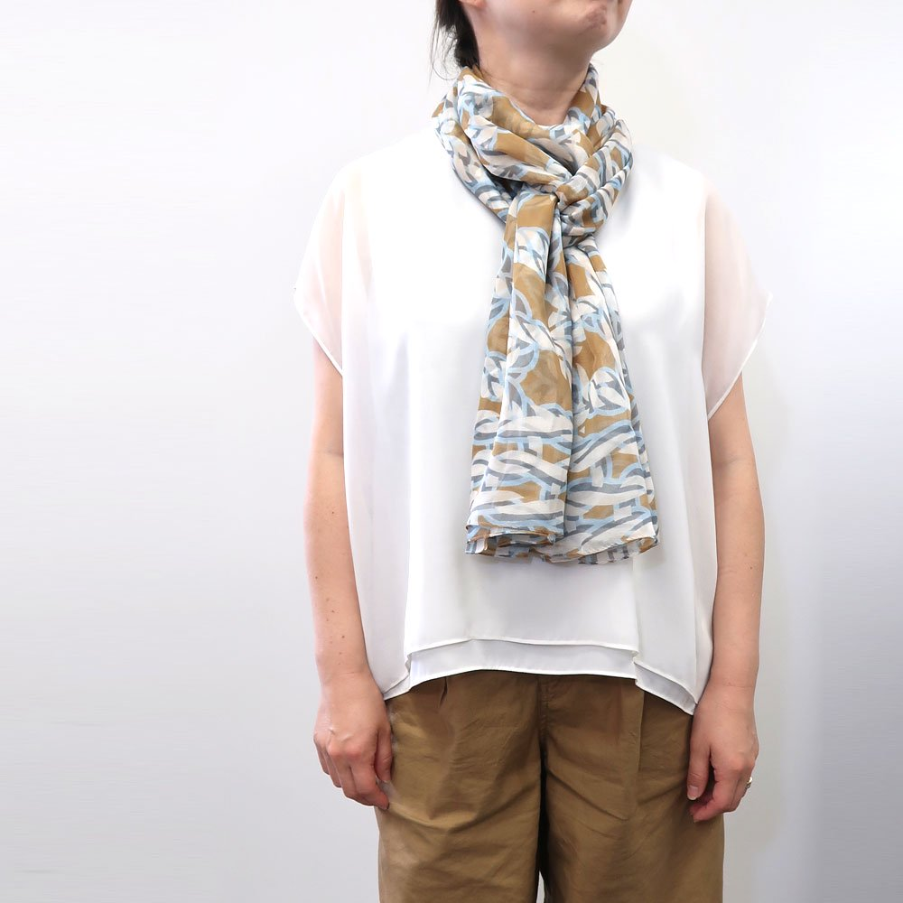 Rope Knot LONG(CMR-103L) 【the PORT by marca】大判 シルクローン ストールの画像5