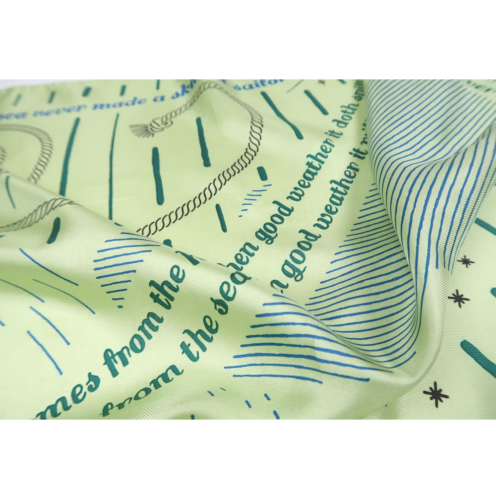 MARINE MESSAGE(FMR‐115) 【the PORT by marca】小判 シルクツイル スカーフの画像3