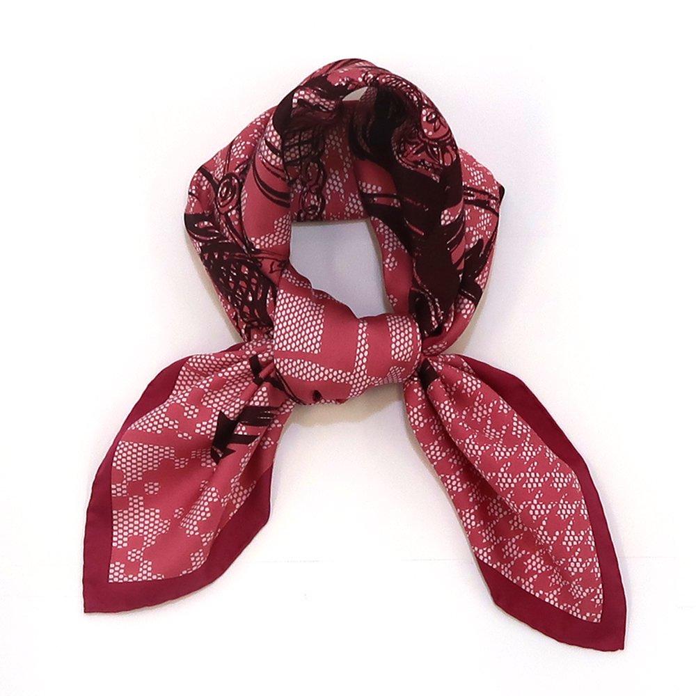 ミックス幾何×手描き風馬車(CGQ-099/CEQ-099) Marcaオリジナル 大判 シルクツイル スカーフの画像2