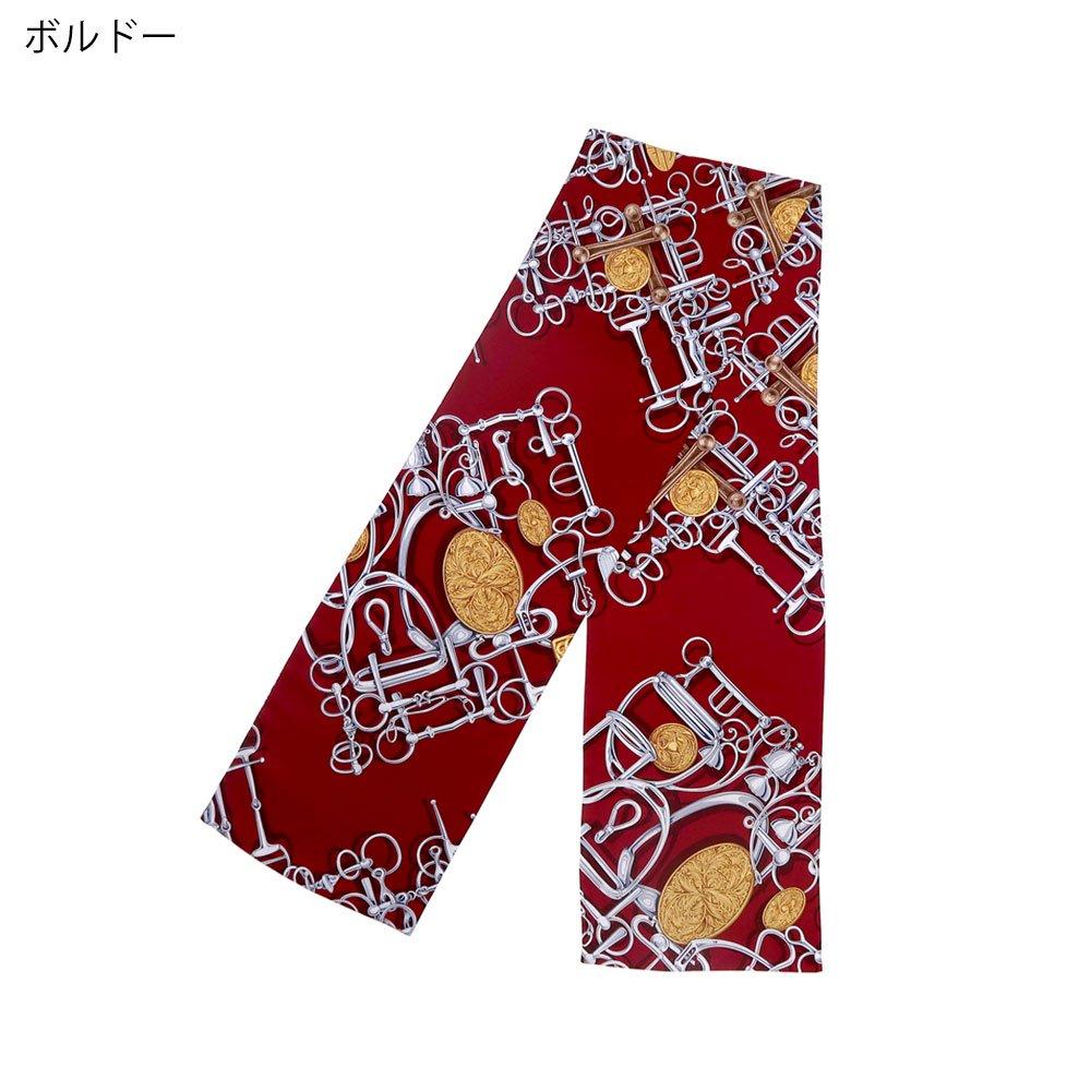 ビットメダル ナロースカーフ(NEN-075) Marcaオリジナル シルクツイル スカーフ