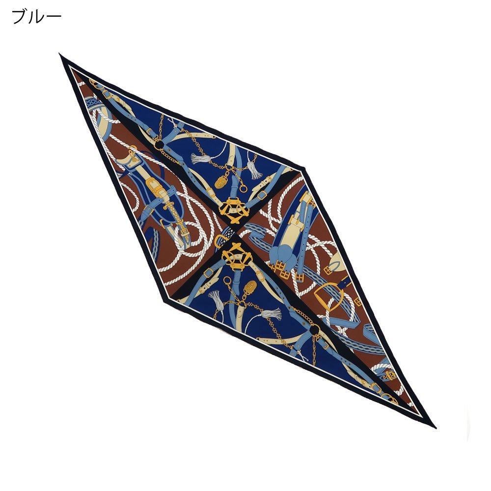 ベルト&ロープ菱型(FER-072) Marcaオリジナル シルクツイル スカーフの画像1