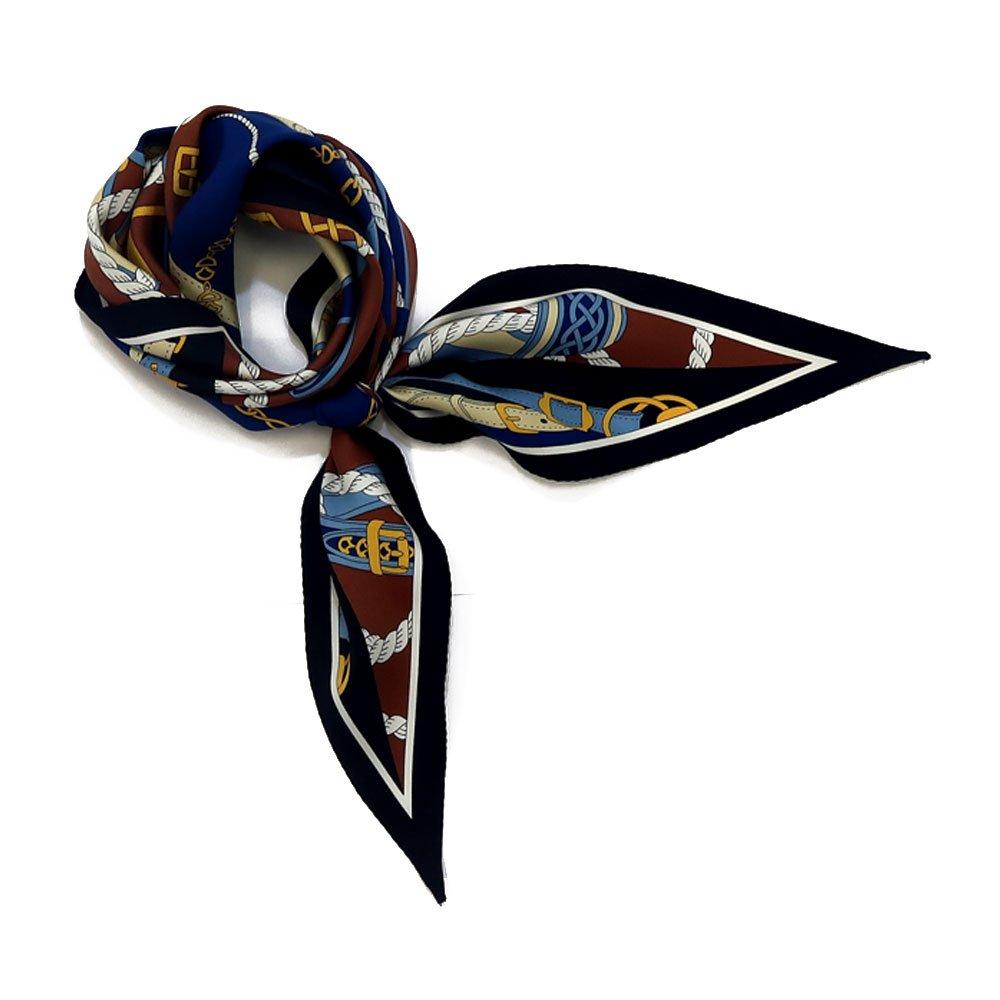 ベルト&ロープ菱型(FER-072) Marcaオリジナル シルクツイル スカーフの画像2