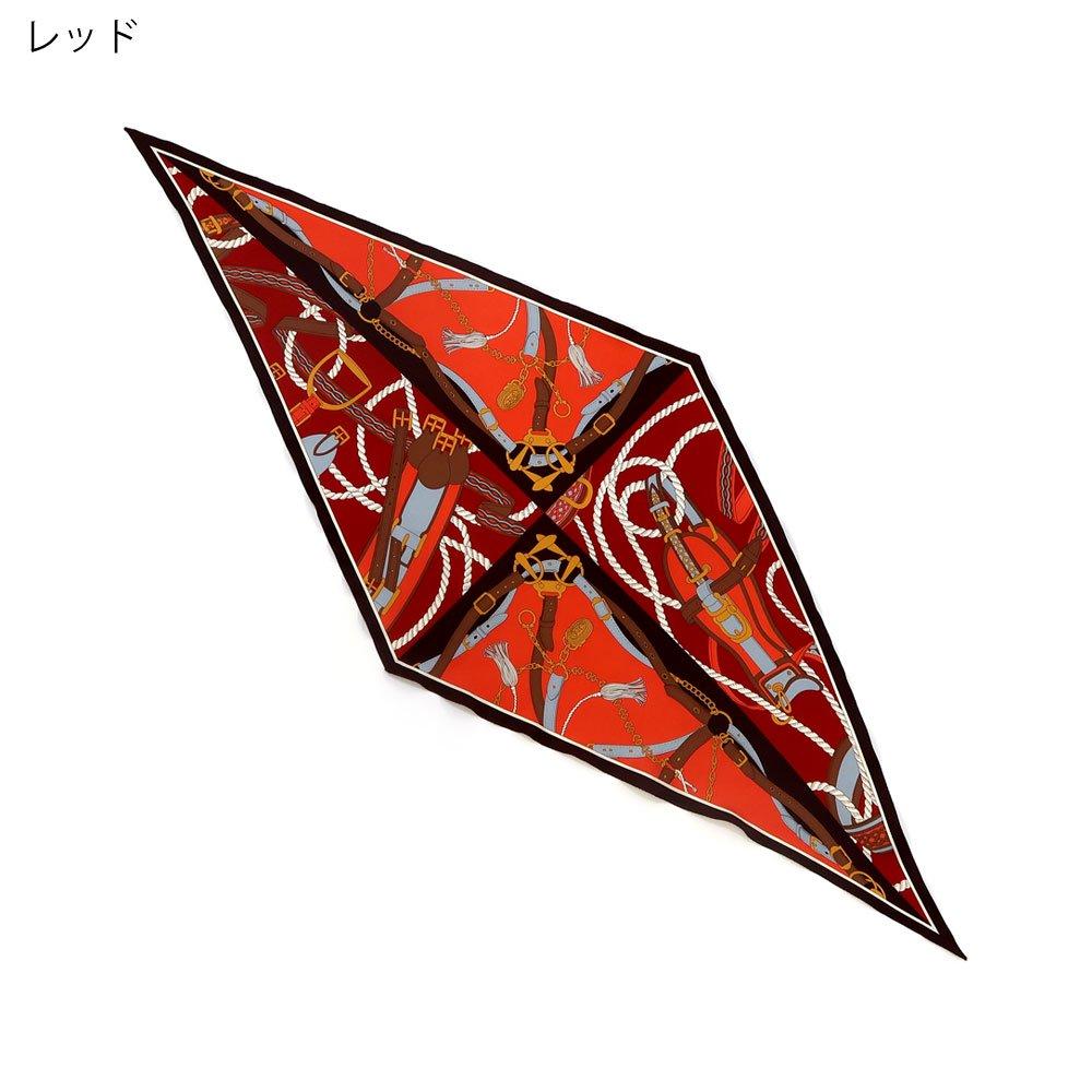 ベルト&ロープ菱型(FER-072) Marcaオリジナル シルクツイル スカーフの画像3