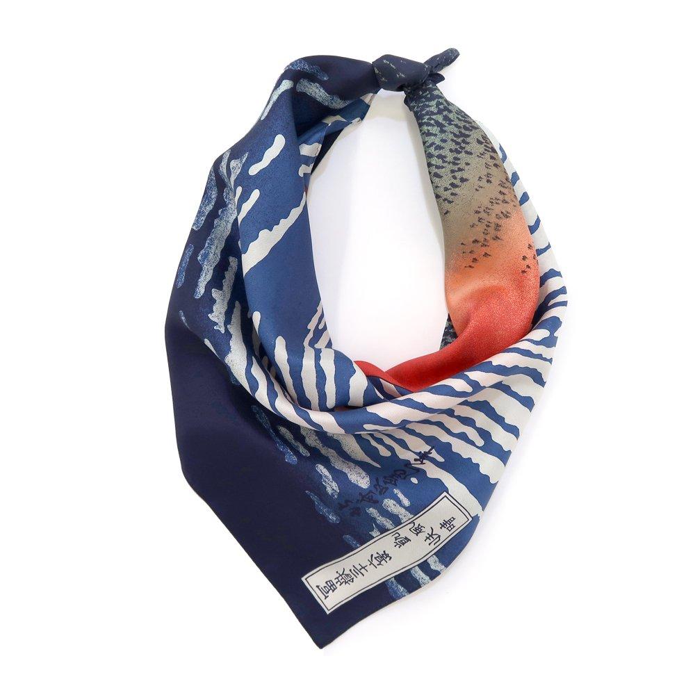 凱風快晴/赤富士(BMS-010) 葛飾北斎 Marcaオリジナル 小判 シルクツイル スカーフの画像2