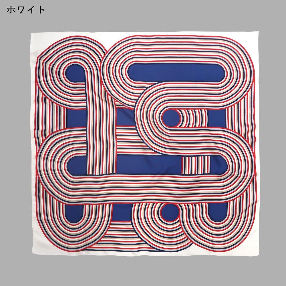 ラウンドストライプ(CGS-003) Marcaオリジナル 大判 シルクツイル スカーフ