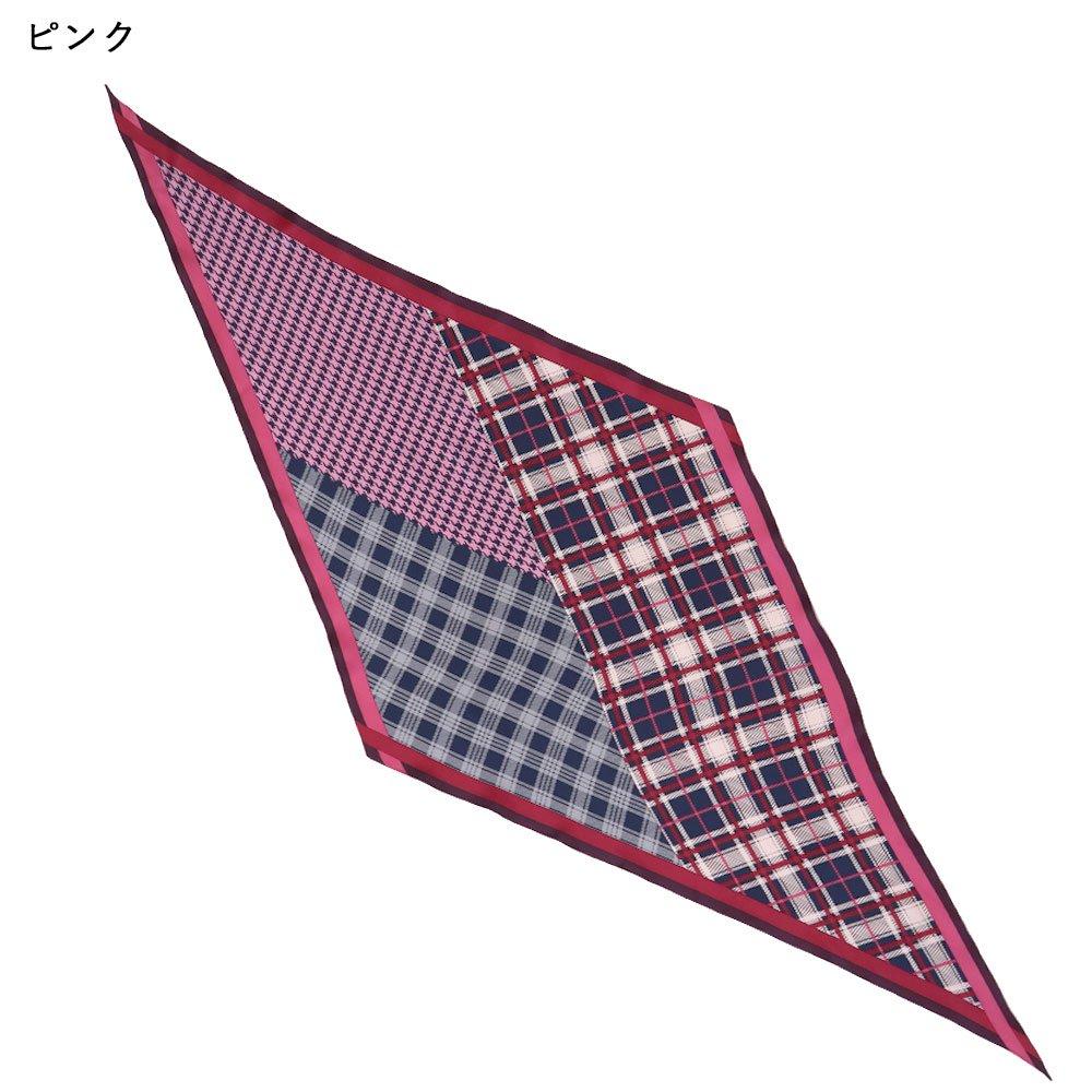 <img class='new_mark_img1' src='https://img.shop-pro.jp/img/new/icons29.gif' style='border:none;display:inline;margin:0px;padding:0px;width:auto;' />ミックスチェック菱型スカーフ (FGS-086) Marcaオリジナル シルクツイル スカーフ