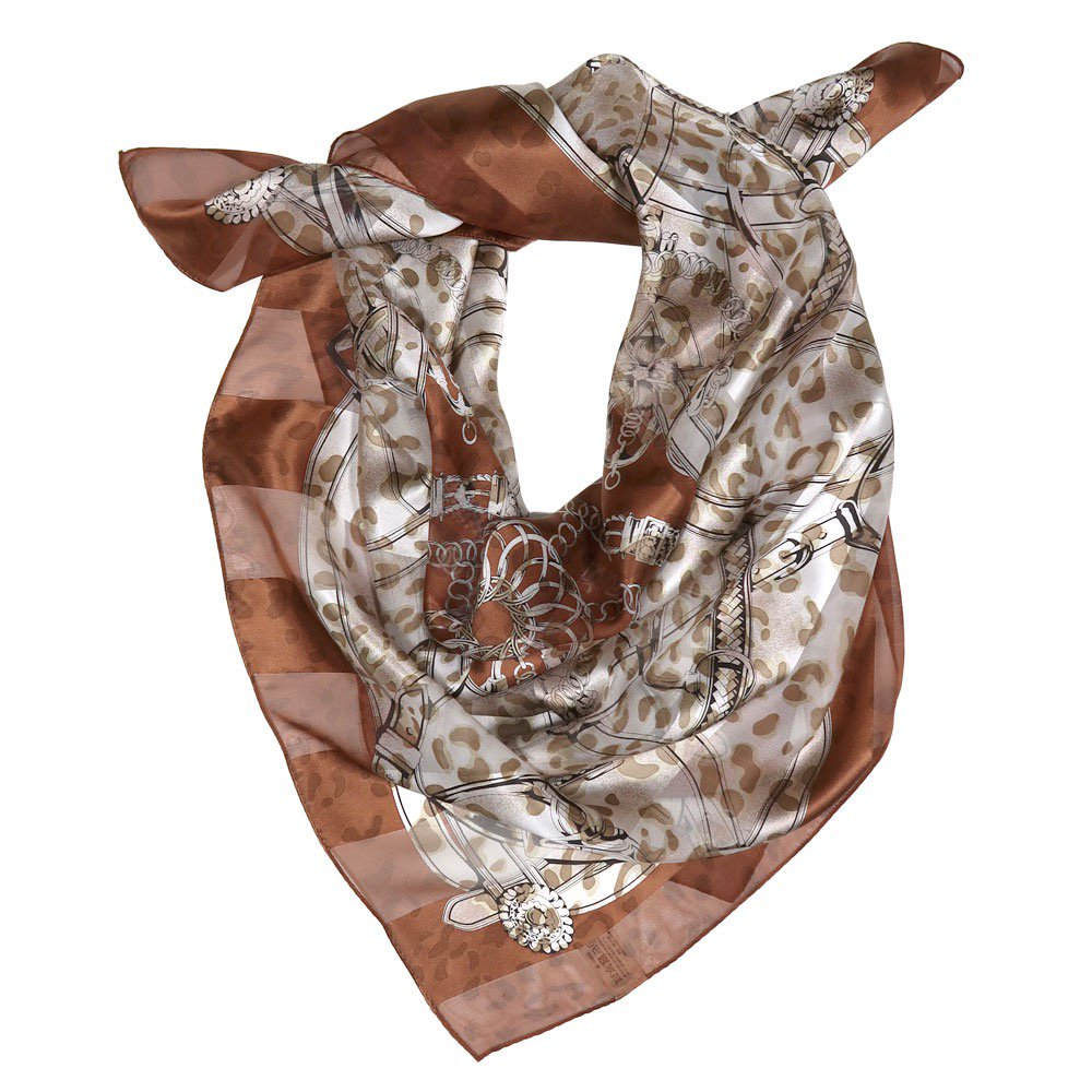 ハーネス&ヒョウ (CEQ-101) Marcaオリジナル シルクサテンストライプ 大判スカーフの画像6