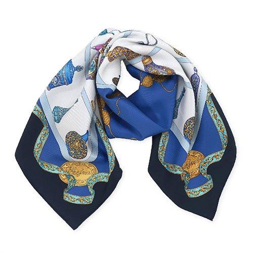 香水瓶 (CM5-329) 伝統横濱スカーフ 大判 シルクツイル スカーフ