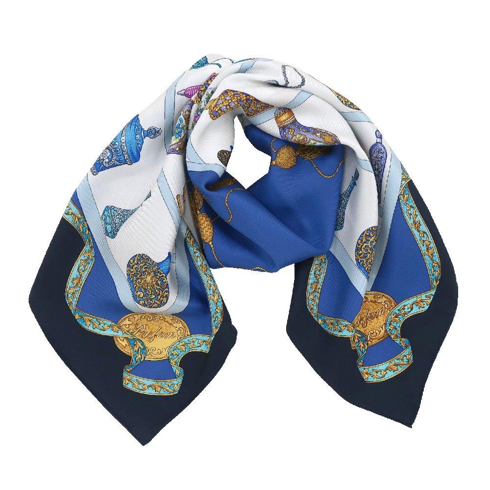 香水瓶 (CM5-329) 伝統横濱スカーフ 大判 シルクツイル スカーフの画像1
