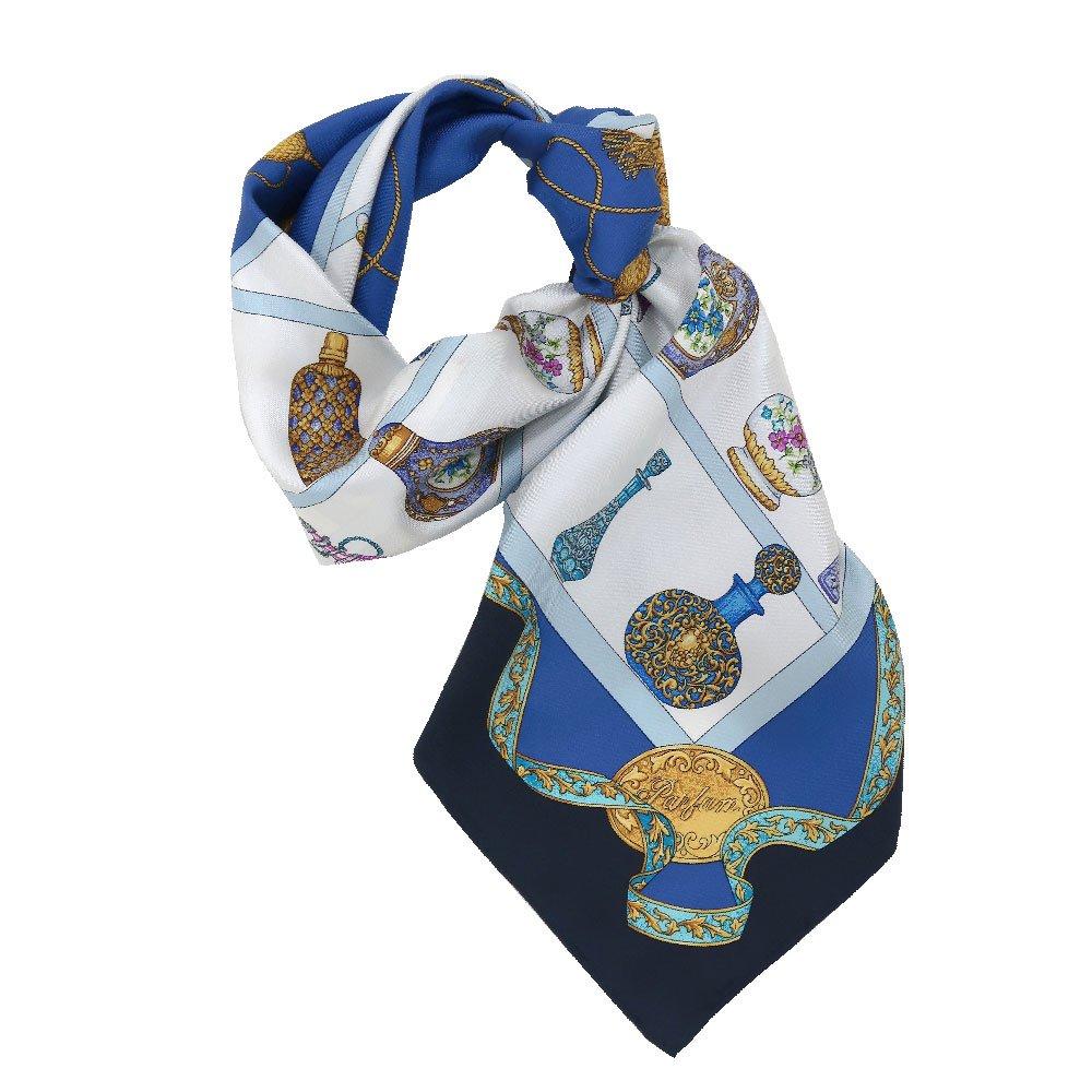 香水瓶 (CM5-329) 伝統横濱スカーフ 大判 シルクツイル スカーフの画像3