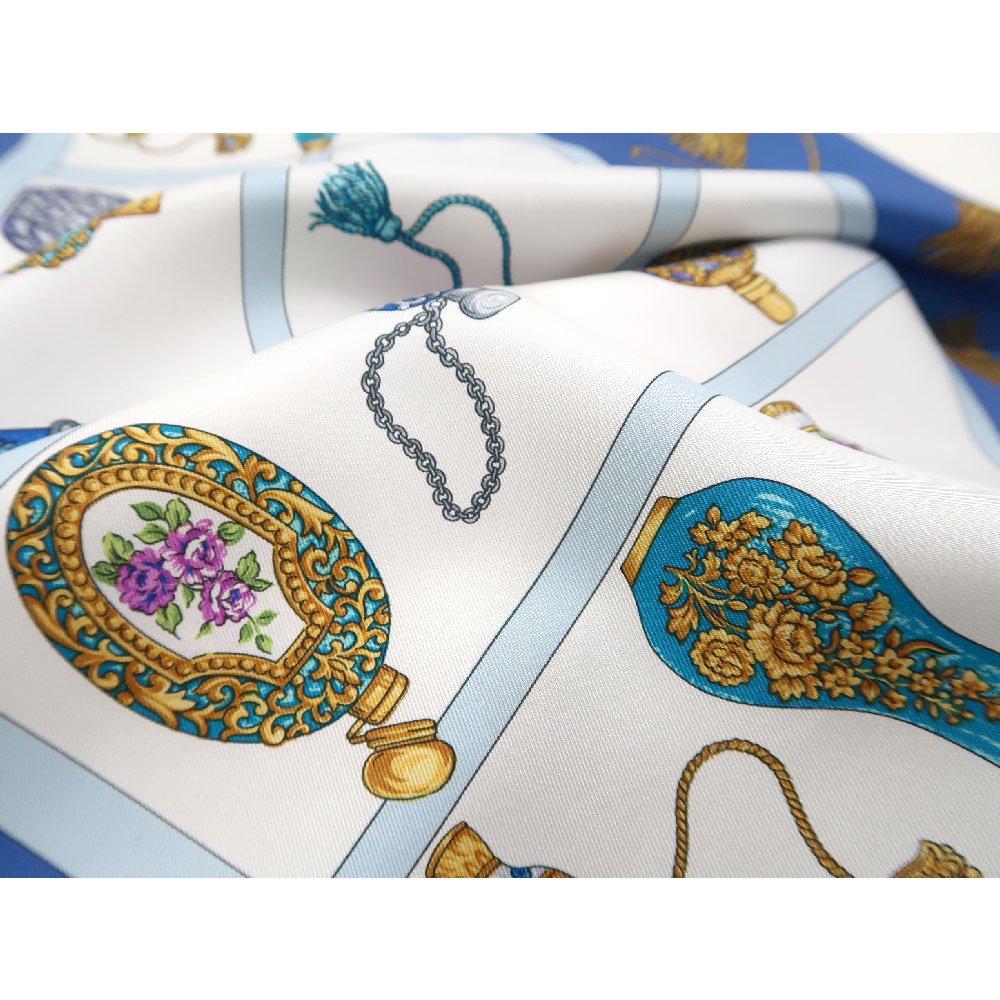 香水瓶 (CM5-329) 伝統横濱スカーフ 大判 シルクツイル スカーフの画像4