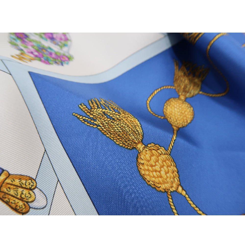 香水瓶 (CM5-329) 伝統横濱スカーフ 大判 シルクツイル スカーフの画像5