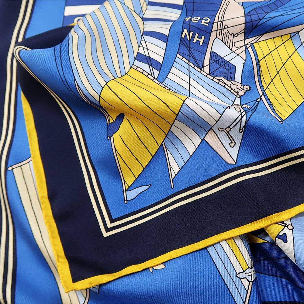 セーリング (CET-063) Marcaオリジナル 大判 シルクツイル スカーフの画像3