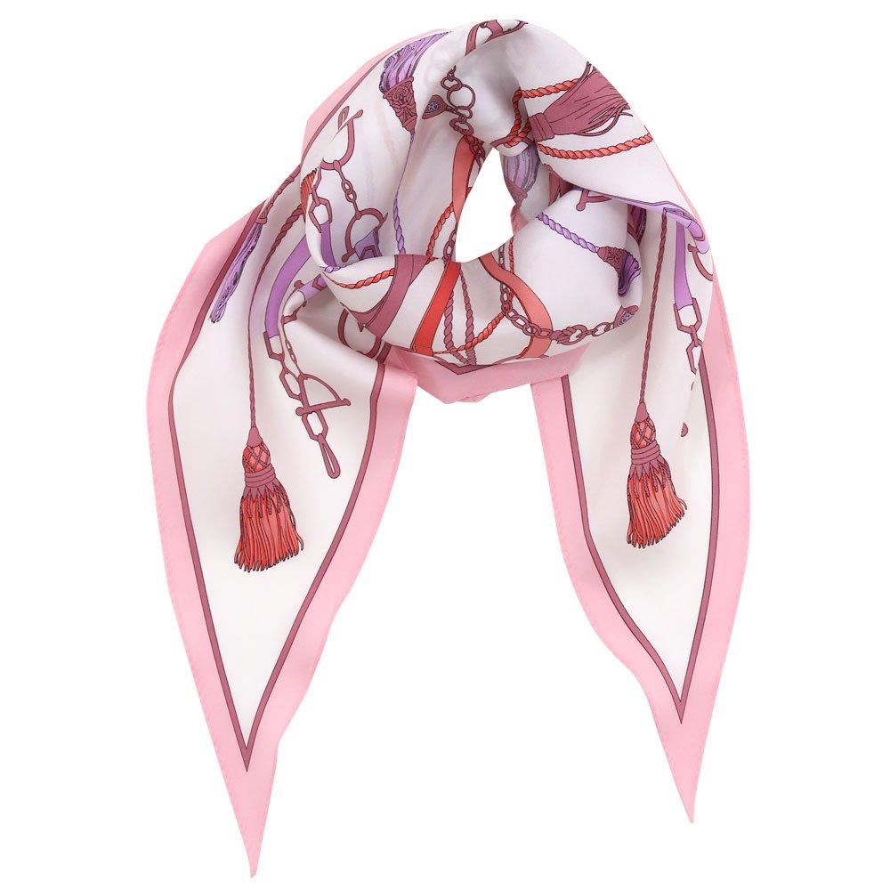 タッセル&チャーム 菱形スカーフ (FET-061) Marcaオリジナル シルクツイル スカーフの画像5