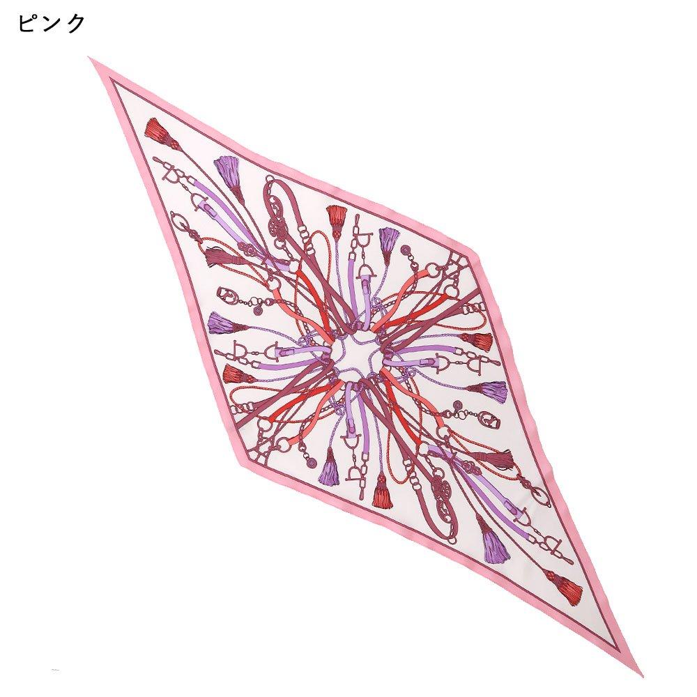 タッセル&チャーム 菱形スカーフ (FET-061) Marcaオリジナル シルクツイル スカーフの画像6