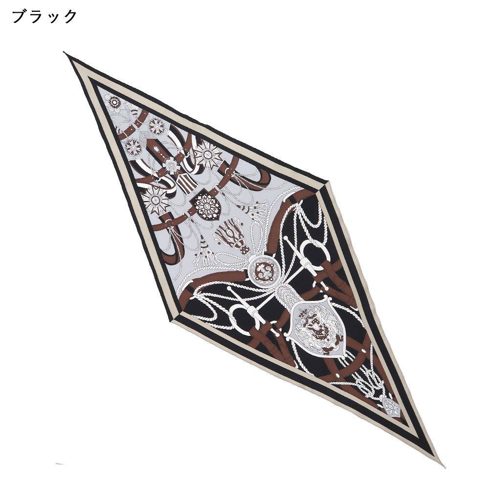 バイカラーベルト 菱形スカーフ (FET-069) Marcaオリジナル シルクツイル スカーフの画像2