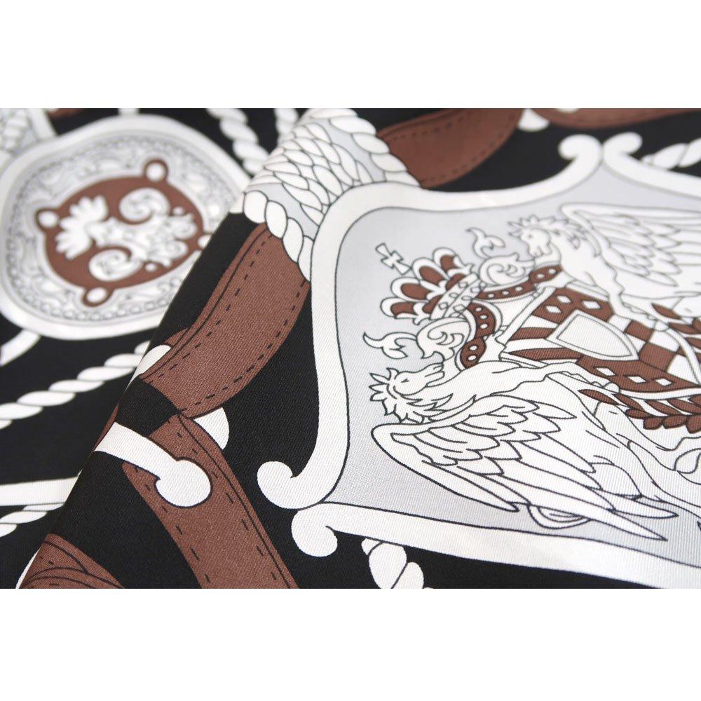 バイカラーベルト 菱形スカーフ (FET-069) Marcaオリジナル シルクツイル スカーフの画像3