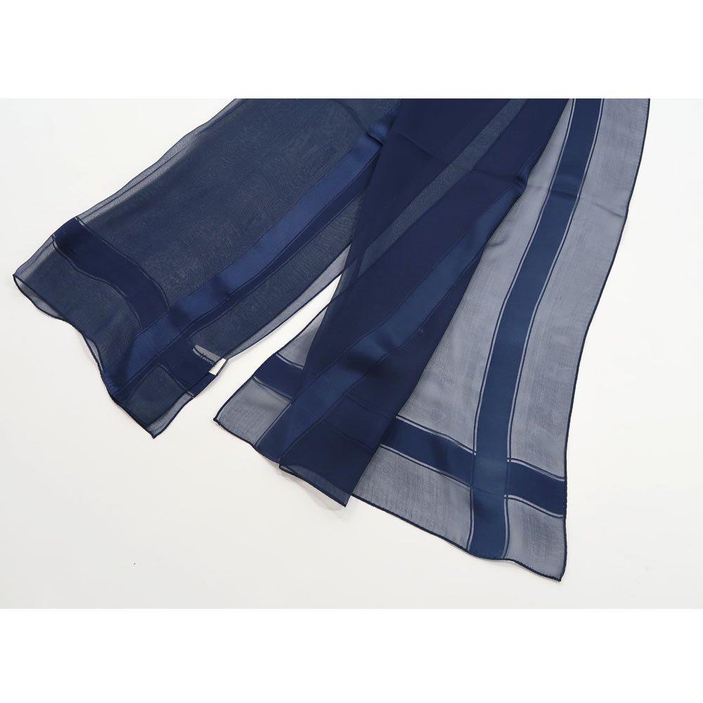 格子柄シルクストール (MUJ-I01) Marcaオリジナル シルクローン ストールの画像6