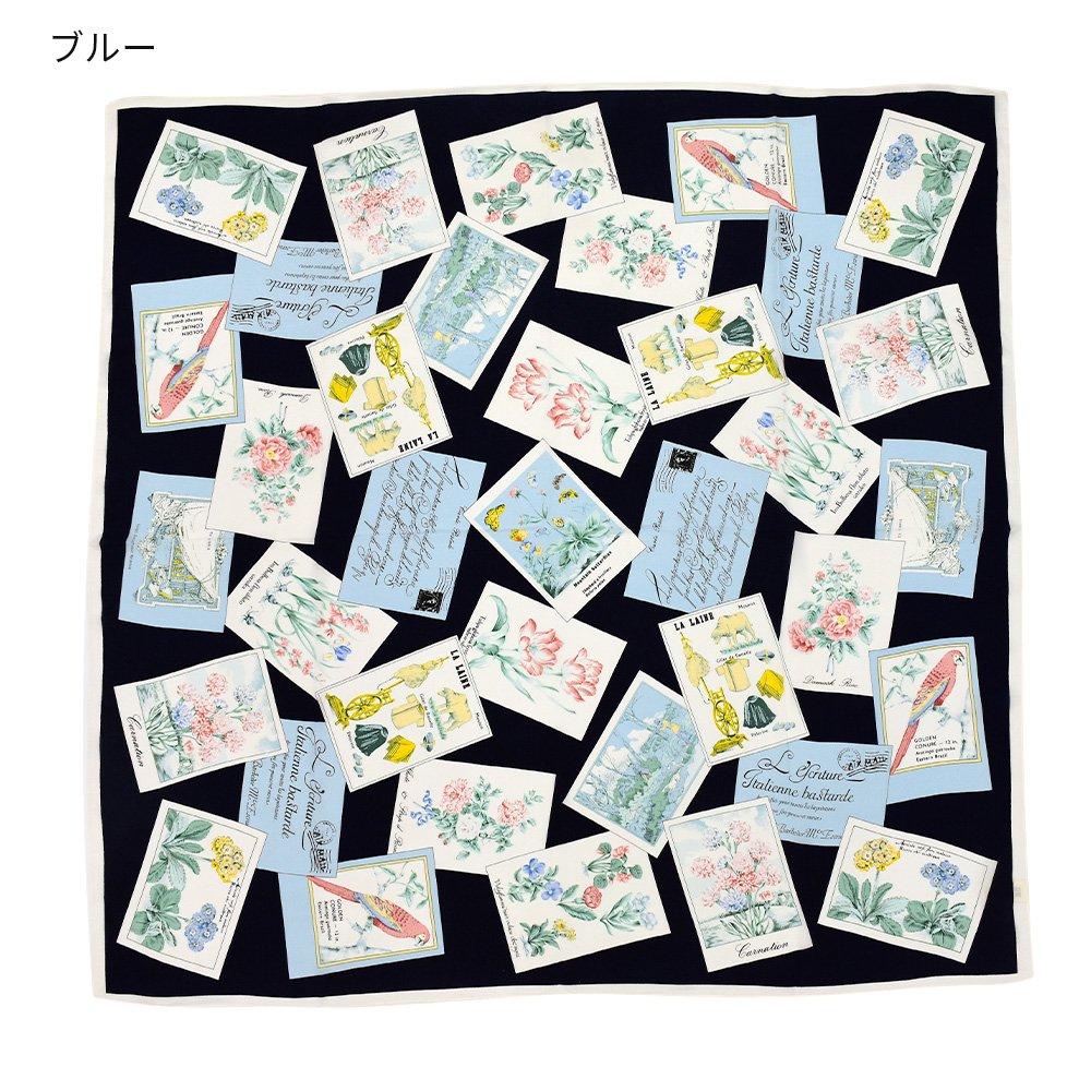ポストカード (CM6-040) 伝統横濱スカーフ 大判 シルクデシン スカーフの画像2