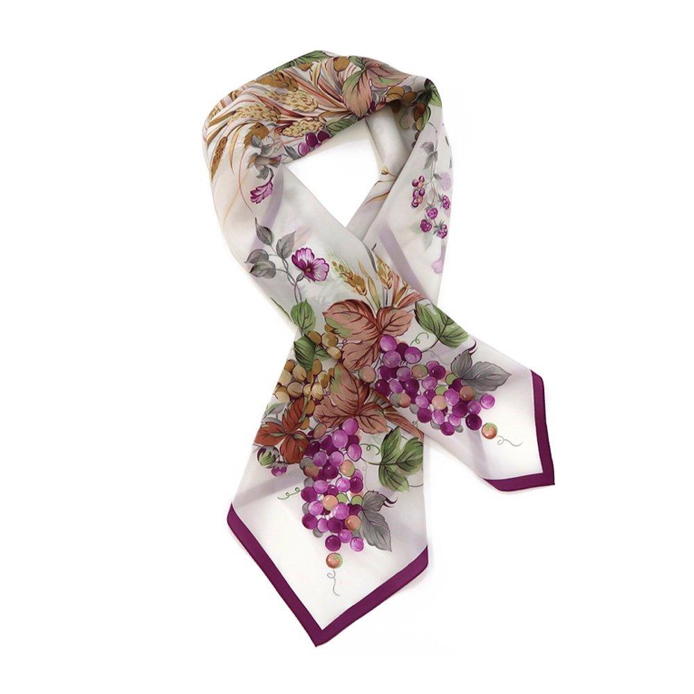 木の実 (CM6-734) 伝統横濱スカーフ 大判 シルクデシン スカーフの画像2
