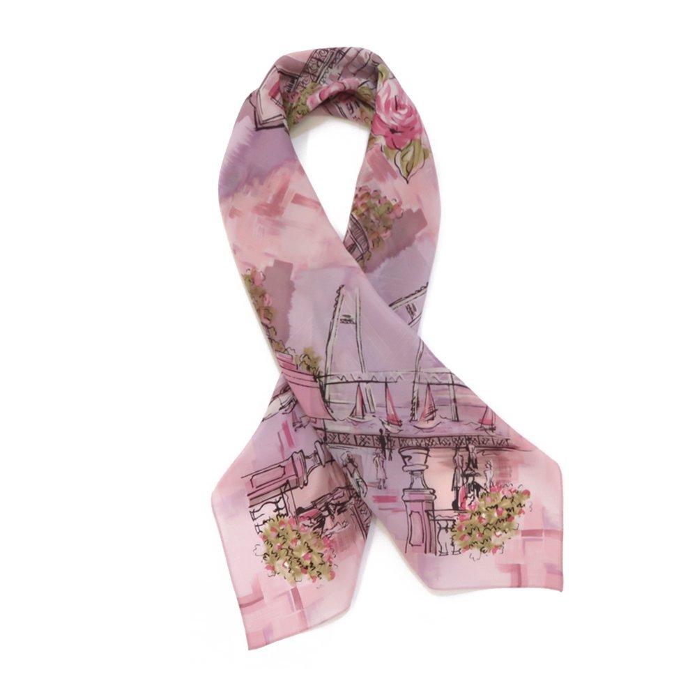 リゾートランド (CMD-364) 伝統横濱スカーフ 大判 シルクデシン スカーフの画像3