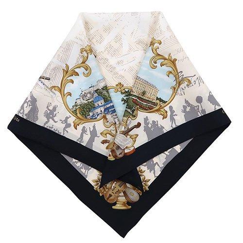 アマデウス (CEF-200) 伝統横濱スカーフ 大判 シルクツイル スカーフ