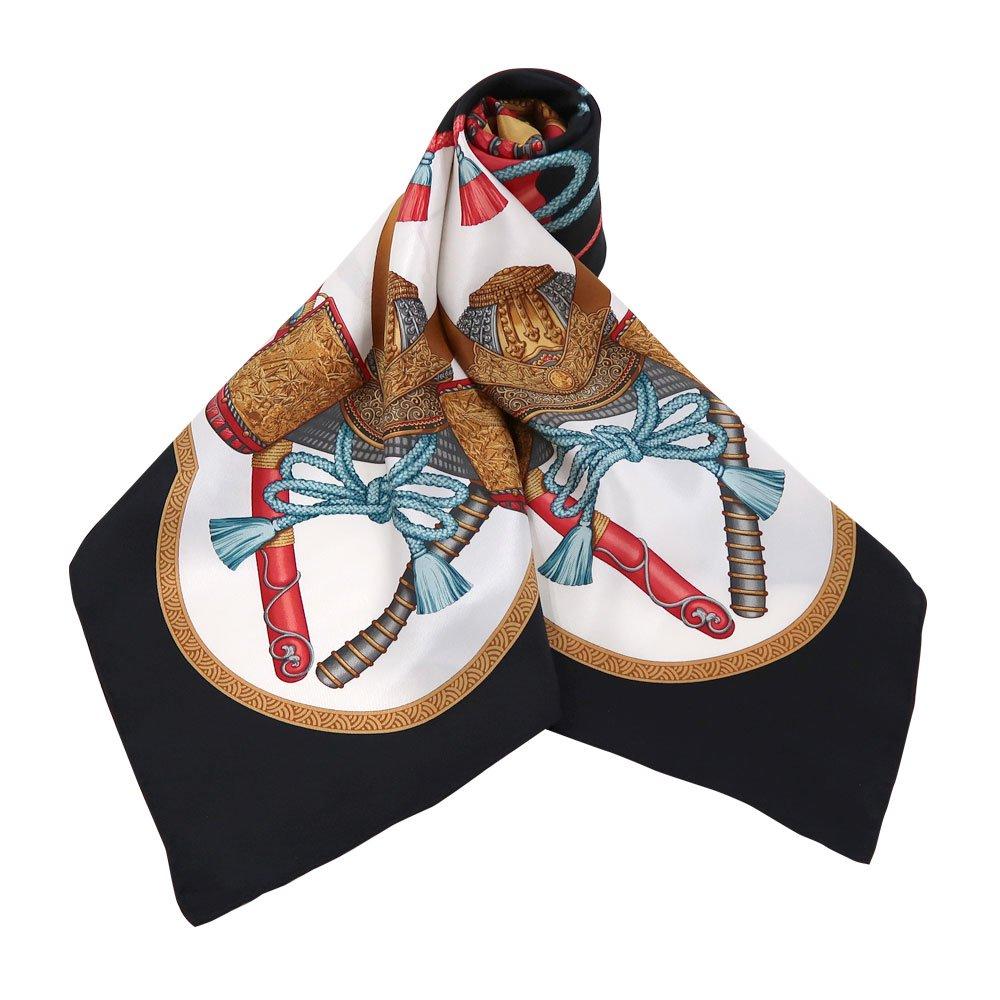 兜 弓と矢 太刀(CET-106) 伝統横濱スカーフ 大判 シルクスカーフの画像2