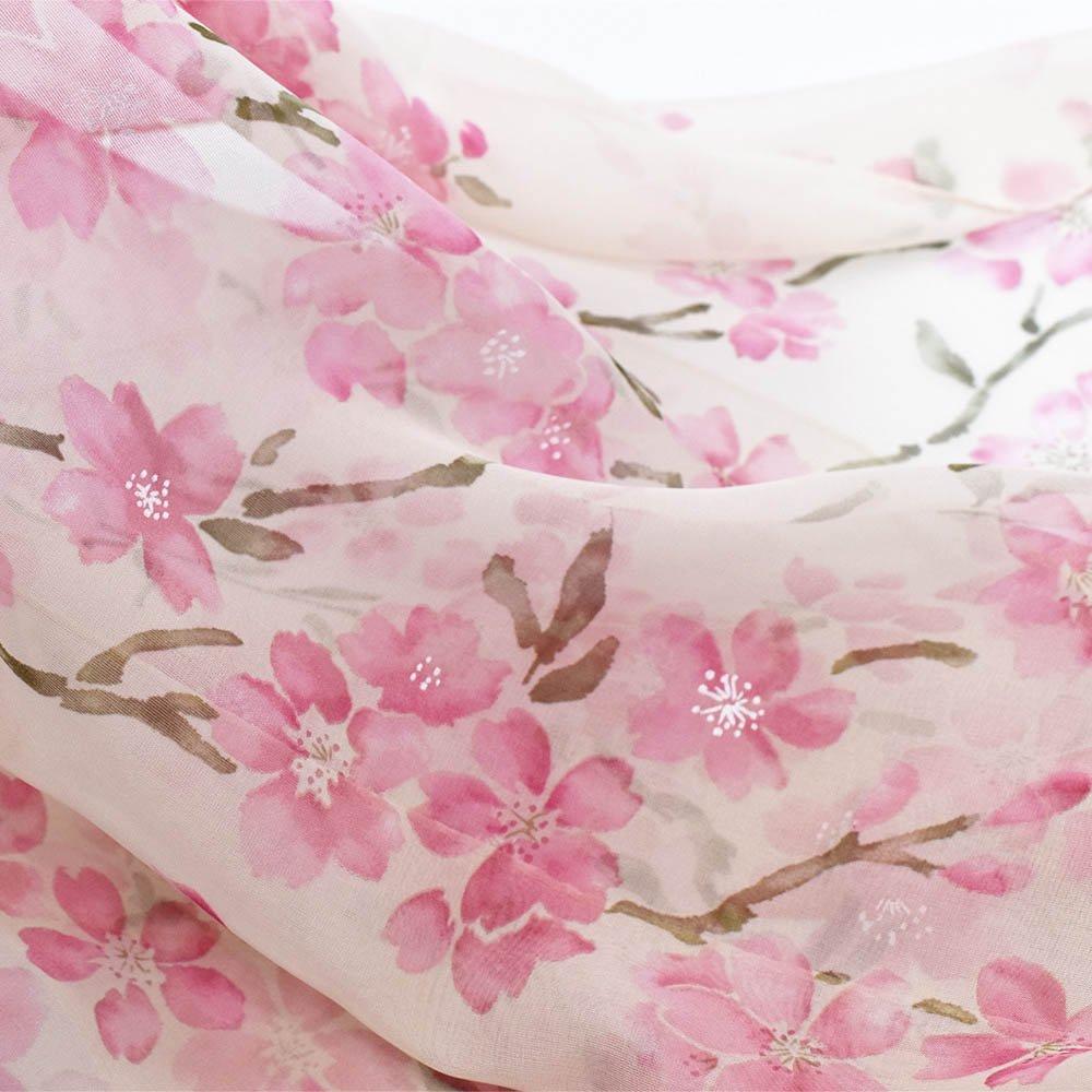 桜 (LMH-088) 伝統横濱スカーフ  シルクローン ロングスカーフの画像5