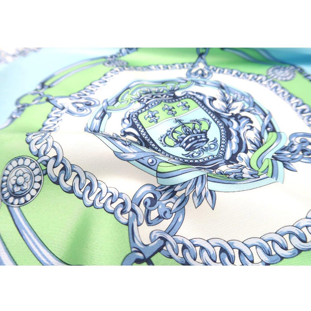 チェーン (FET-055) 伝統横濱スカーフ 小判 シルクツイル スカーフの画像3
