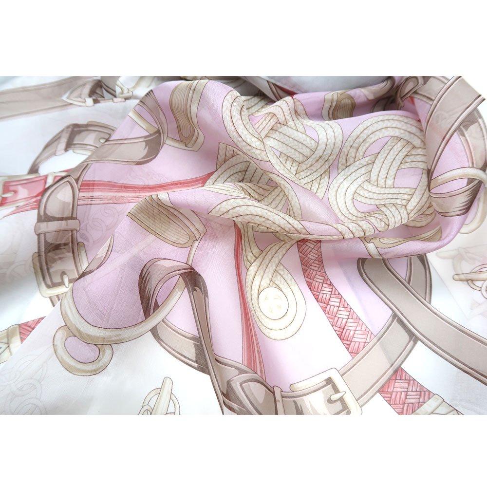 蹄鉄とステッキ(CM5-381LL) Marcaオリジナル 大判 シルクローン ストールの画像6
