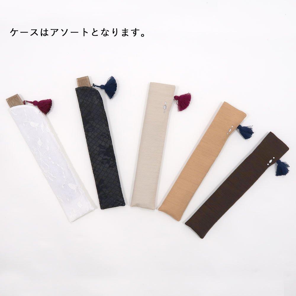 【訳あり】シルクスカーフ扇子F フラワー 【お買い得】Marcaオリジナルの画像5