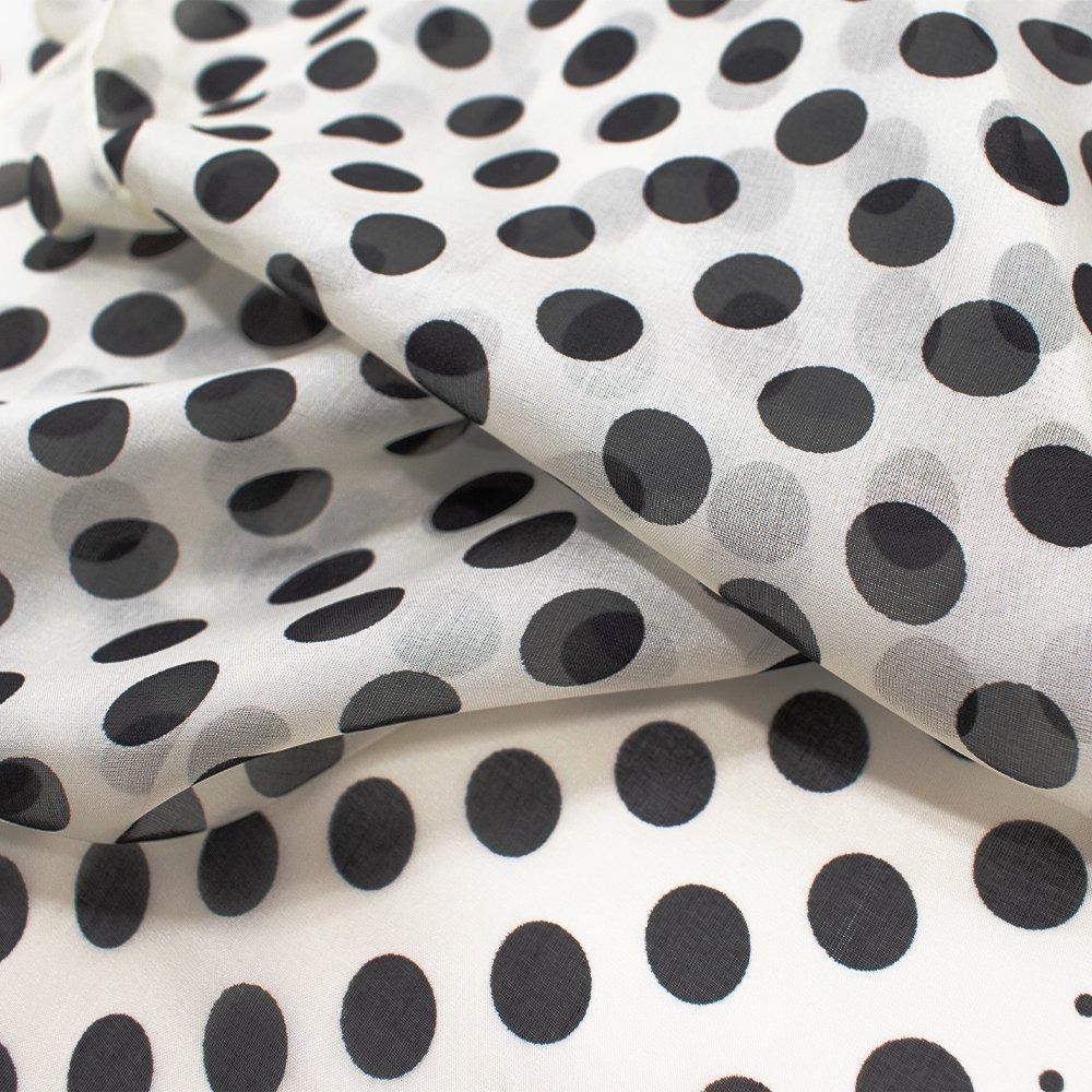 水玉剣先 (NHF-107) Marcaオリジナル ウォッシャブルシルクローン 剣先ストールの画像6