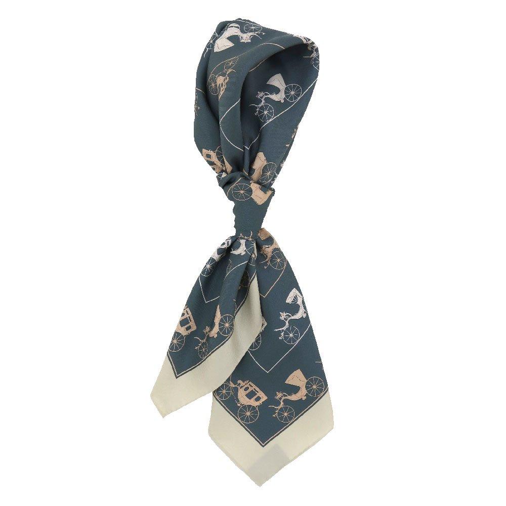 馬車道 (CEE-018) 伝統横濱スカーフ 大判 シルクツイル スカーフ