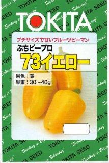 ミニカラーピーマンの種【ぷちピープロ(73イエロー)】〔F1〕 ※無消毒