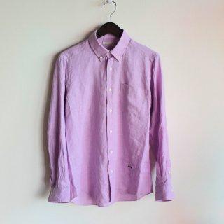 San Francisco(サンフランシスコ)ソリッド リネンBDシャツ(ラベンダー)