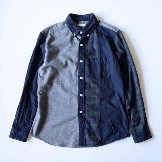 San Francisco(サンフランシスコ)クレイジーパターンBDシャツ(ネイビー)