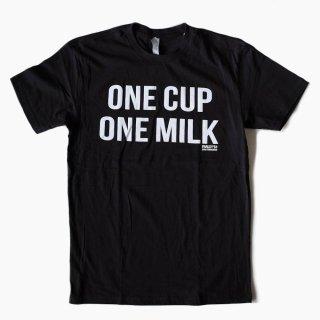 FARLEY'S COFFEE ONE CUP ONE MILK Tシャツ (ブラック)