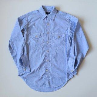 San Francisco(サンフランシスコ)トリプルステッチ ワークドレスシャツ(ブルー)