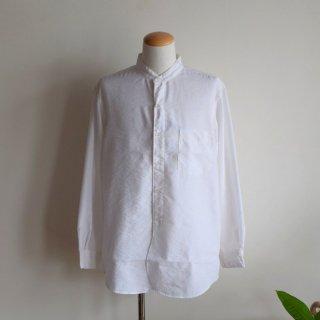 SPELLBOUND(スペルバウンド) リネンバンドカラーシャツ (ホワイト)