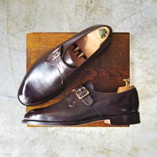 極美品★トリッカーズ SIZE 8【ユニオンワークス取扱い】モンクストラップ/J5343411/ブラウン カーフ/短靴/Tricker's★b631-7