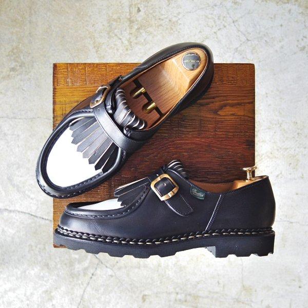 746f64242e20 未使用☆パラブーツ SIZE 40【NYONS/キルティタン】ニヨン/リスレザー/ミカエル型モンクストラップ/BRIDEキルト付/Paraboot☆c501  - 高級革靴・鞄の買取販売店 studio.