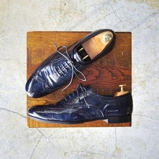 レディース★極上★プラダ SIZE 37【ウイングチップ/濃紺/ネイビー】フルブローグ/靴/シューズ/PRADA★d239