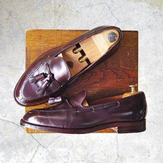 美品★オールデン 8D【貴重★(ハワイ)Leather Soul×Bar Leather Apron別注/D6108/BLA02】タッセルローファー/カーフ/赤茶/Alden★f572