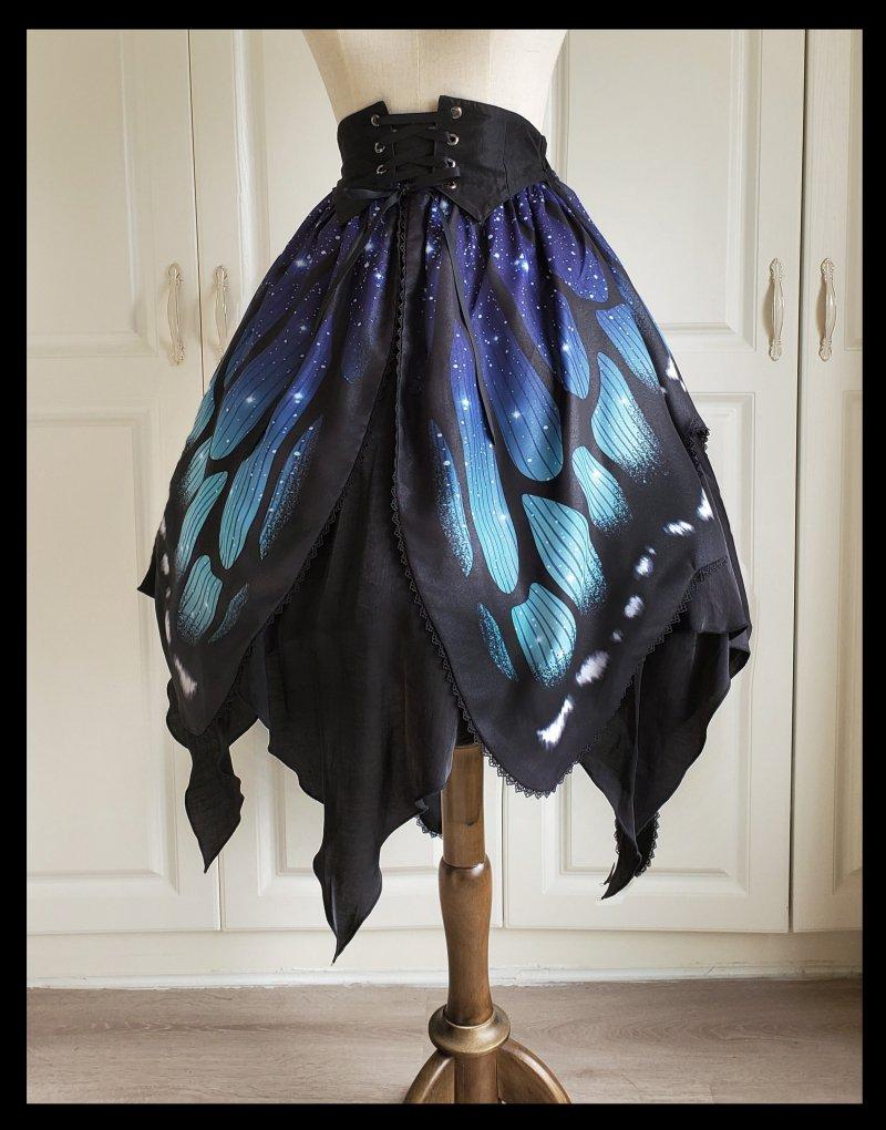 【即納】Butterfly Effectスカート(ウエスト編み上げ)【Star fantasy】